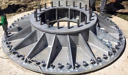 Piastra raccordo torre mini eolico